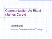 1-3 communication as a ritual