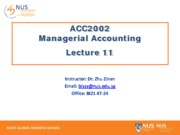 Lecture 11 - Segmented reporting and transfer pricing