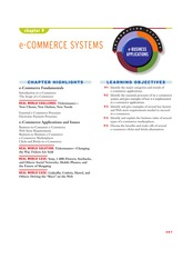 IT 101 - Chapter 9 e-COMMERCE SYSTEMS