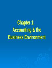 Chapter 1 accounting