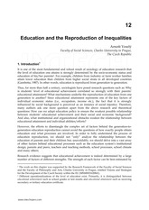 Education and the Reproduction of Inequalities