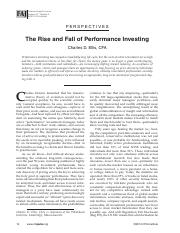 Ellis Article_The Rise and Fall of Performance Investing
