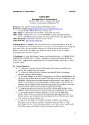 Intro NS Syllabus--fall '11
