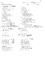 Printables Factoring Trinomials A 1 Worksheet Answers factoring trinomial answer key 4 pages quadratic test review key