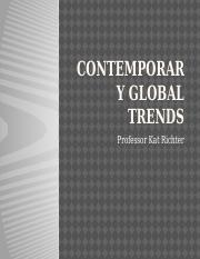 Lecture 13_Contemporary Global Trends Condenced