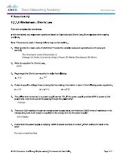 1.1.1.4 Worksheet - Ohms Law - Copy