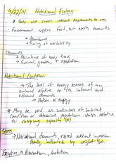 Nutritional Ecology