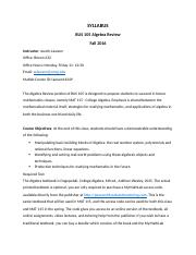 Syllabus for Algebra Review 01.docx