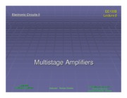 ee100b Lecture 08 - Multistage Amplifiers (Slides)