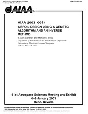 AIRFOIL DESIGN USING A GENETIC ALGORITHM AND AN INVERSE METHOD