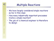 Multiple Reaction Conversion Notes