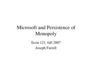 121 Microsoft and persistence of monopoly