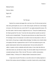 Human Impact Essay Redrafted