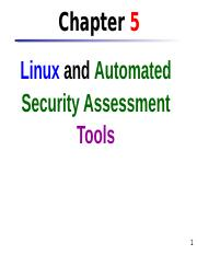 Chap 5 Linux & Automated Security Assessment Tools