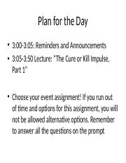 Week 8 LectureThe Cure or Kill Impulse 2017 (1).ppt