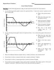 U 03 Review Problems.pdf - Regents Physics Worksheet Name ...