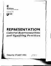 Hall1997 Representation Cultural Representations and Signifying Practices
