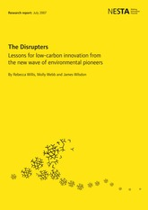 5.2. The Disrupters Lessons from a low carbon innovation (Willis et al)