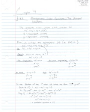 Notes on Homegeneous Linear Equations