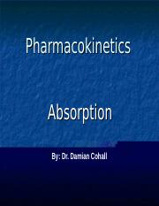 MBBS  (Pharmacokinetics -Routes of Administration and Drug Absorption) Lecture 22 09 2016