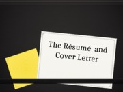 The Résumé  and Cover Letter-1 (1)