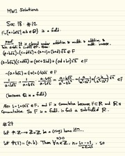 Homework A Solutions on Abstract Algebra