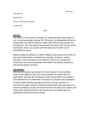 Honors A&P Research Rough Draft