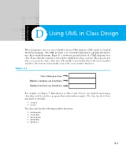 Appendix D - Using UML in Class Design