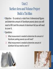 Surface Area Volume Project Unit 2 Test.pptx