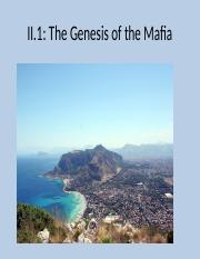 II.2(Genesis of the Mafia).ppt
