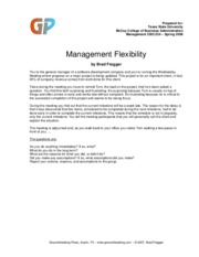 Management_Flexibility