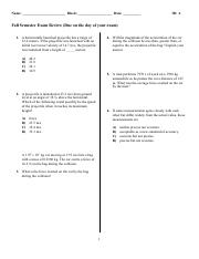 Physics Semester Exam Review WITH KEY 2016-17 (2).pdf