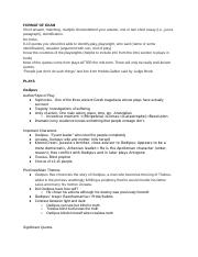 Text and Performance Final Study Guide