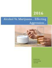 Alcohol vs weed and aggression, assignment 12.3