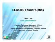 ELG5106 Fourier Optics Ch1