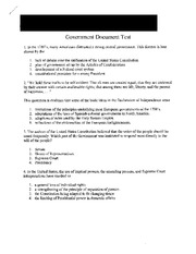 Government Document Test