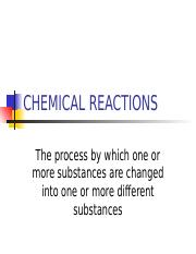 CHEMICAL REATIONS-Notes