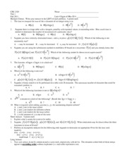 Fall 11 Exam Questions