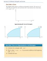 Section 5.3 Definite Integrals and Areas