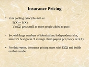 Lecture 20 - Insurance Pricing Apr 14