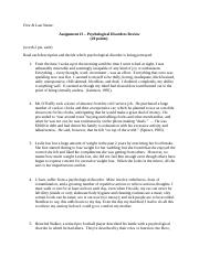 Personality Ch 12 Disorders Assignment.docx