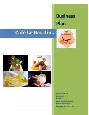Cafe Le Baratin Business Plan.docx