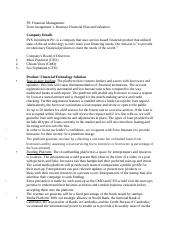 F9 Assignment Business Financial Plan and Valuation.docx
