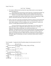 Unit 5 Worksheet