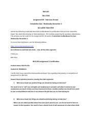 BUS 205 Fall 2016 Assignment 5 InterviewStream Instructions and Certification Document Sections 002