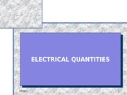 EET307 2010-2011_ELECTRICAL QUANTITIES