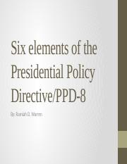 Six elements of the Presidential Policy Directive.pptx