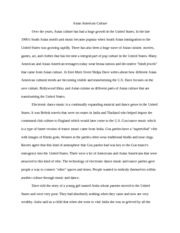 A Compare And Contrast Essay Is One That Asian American Essay  Asian American Culture Over The Years Asian Culture  Has Had A Huge Growth In The United States In The Late S South Asian Essays Spanish also Law Essay Asian American Essay  Asian American Culture Over The Years Asian  Essay On Population
