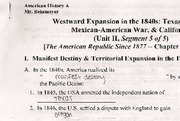 Lecture 11 Notes, Westward Expansion in the 1840s
