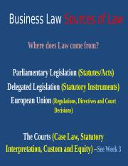 W2 PPT  Sources and Categories of Law